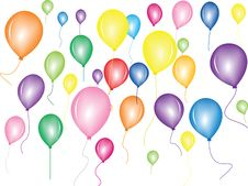 Flying Balloon Stock Photo
