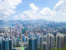 Hong Kong Downtown On Day Royalty Free Stock Images