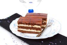 Free Liqueur Cake Slice Royalty Free Stock Photo - 20475415