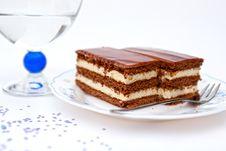 Free Liqueur Cake Slice Royalty Free Stock Photo - 20475435