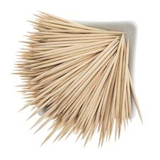 Free Wooden Toothpicks On A White Royalty Free Stock Photo - 20475575