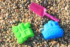 Toys At The Sand Royalty Free Stock Image