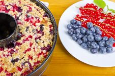 Currant Blueberry Cake Royalty Free Stock Photo