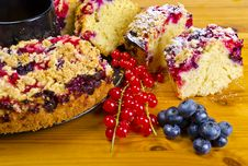 Currant Blueberry Cake Royalty Free Stock Photos