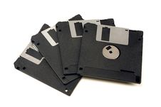 Free Four Floppy Disks Royalty Free Stock Photography - 20476277