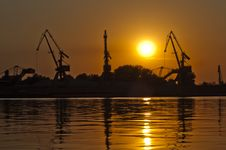 Free Sunset Cranes Stock Photo - 20476610