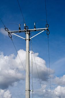 Free Electric Pole And Clouds Stock Images - 20476984