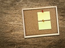 Free Corkboard On Wooden Royalty Free Stock Images - 20477269