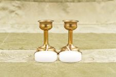 Free Bronze Candle Holders Stock Photo - 20477880