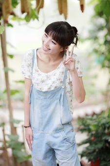Chinese Girl Next Door Stock Photography
