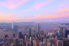 Free Hong Kong At Sunset Royalty Free Stock Images - 20478819