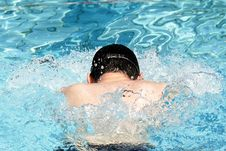 Breaststroke Swimming Professionall Stock Photo