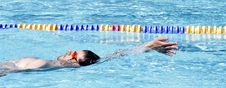 Free Professional Backstroke Swimmer Stock Image - 20479291