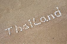 Free Thailand Written On The Sand Stock Photography - 20479352
