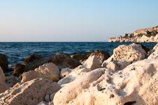 Free Rocky Coastline, Stones In Sea Stock Images - 20479364