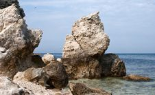 Free Rocky Coastline, Stones In Sea Stock Photography - 20479432