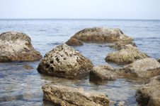Free Stones In A Sea, Blurred Water Stock Photography - 20479502