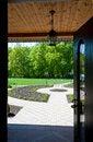 Free Open Door To Yard Stock Photo - 20480170