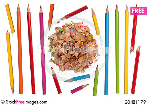 Free Colorful Pencils Collection Royalty Free Stock Images - 20481179