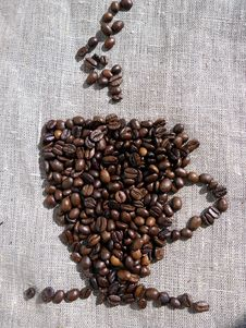 Free Cup Of Coffee Beans Stock Photography - 20480012