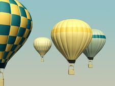 Free 3d Aerostats Stock Image - 20480241