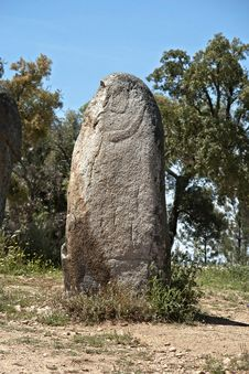 Free Megalithic Monument Of Almendres, Evora Stock Photography - 20480242
