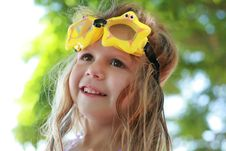 Free Girl With Goggles Royalty Free Stock Photos - 20481058