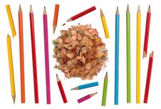 Colorful Pencils Collection Royalty Free Stock Images