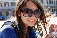 Free Teenage Girl In Sunglasses Stock Photo - 20481380