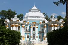 Pavilion Hermitage In Pushkin Village Stock Photography