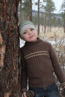 Free Winter Boy Stock Photo - 20481780