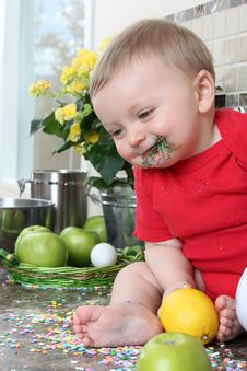 Free Kitchen Baby Stock Photos - 20482143