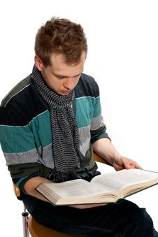 Free Young Man With Book Stock Photos - 20482263