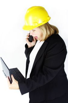 Construction Stress Yell Royalty Free Stock Image
