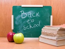 Free Back To School With Books And Apples Royalty Free Stock Image - 20482946