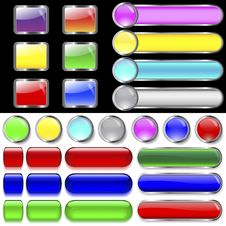 Free Collection Of Buttons. Royalty Free Stock Photos - 20483178