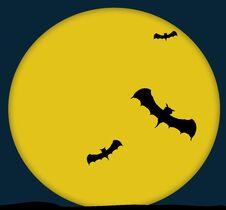 Bats And The Moon Royalty Free Stock Photos
