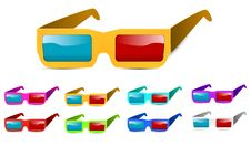 Free 3d Glasses Royalty Free Stock Photos - 20483278