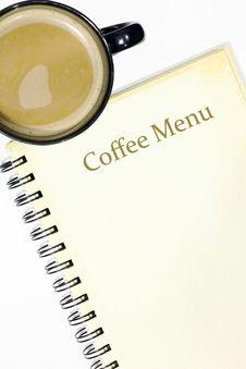 Free Coffee Menu Royalty Free Stock Photography - 20483307