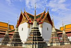 Free Stupas In Wat Pho Royalty Free Stock Photo - 20483635