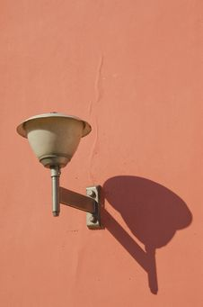 Vintage Old Town Lamp Stock Photo