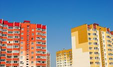 Free Multistory Yellow And Red Houses Stock Photos - 20483943