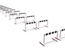 Free Row Of Barriers To Success Royalty Free Stock Photo - 20484655