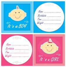 Free Baby Arrival Cards Stock Images - 20484764
