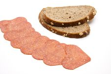 Free Salami With Bread Stock Photo - 20484860