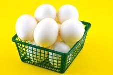 Free Eggs In A Basket Stock Photo - 20485290