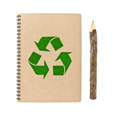Free Recycle Notebook And Bark Pencil Royalty Free Stock Images - 20485359