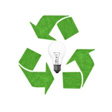 Free Recycle Lightbulb Stock Photography - 20485472