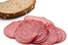 Paprika Salami Royalty Free Stock Images