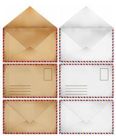 Free Brown And White Old Envelopes Stock Photo - 20485770